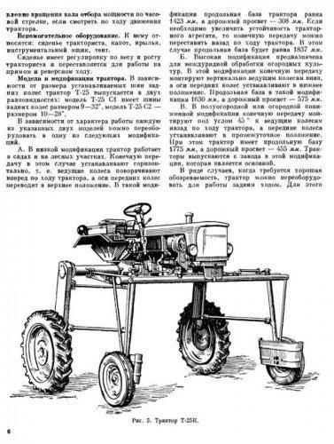 Трактор ХТЗ / ВТЗ Т-25 (устройство и эксплуатация)