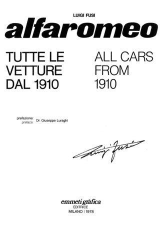 Alfa Romeo: Все автомобили начиная с 1910 года