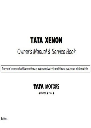 Owners manual for car Tata Xenon
