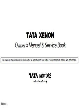 Instrukcja obsługi samochodu Tata Xenon