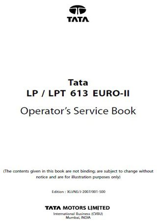 Operation and maintenance manual for Tata LP 613 and Tata LPT 613 Euro 2