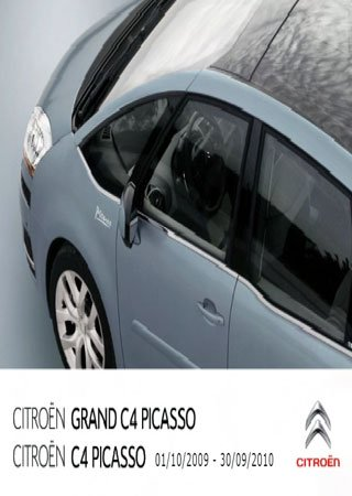 Owners manual for Citroen C4 Picasso and Citroen Grand C4 Picasso 2009