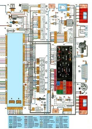 Electrical wiring diagrams for VAZ-2109 «LADA Samara»