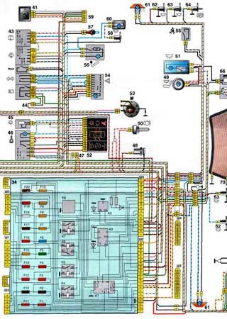 Electrical wiring diagrams for VAZ-2110 «LADA 110»