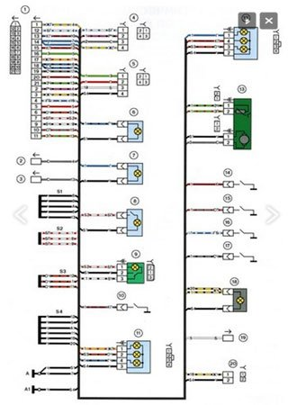 Electrical wiring diagrams for VAZ-2112 «LADA 112»
