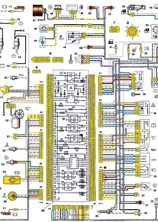 Electrical wiring diagrams for VAZ-2114 «LADA Samara 2»