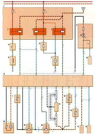 Electrical wiring diagrams for Daewoo Matiz
