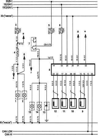 Electrical wiring diagrams for Chery Bonus