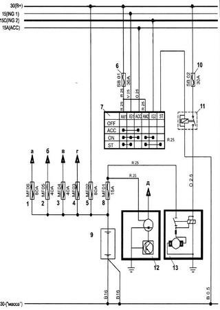 Electrical wiring diagrams for Chery A-13