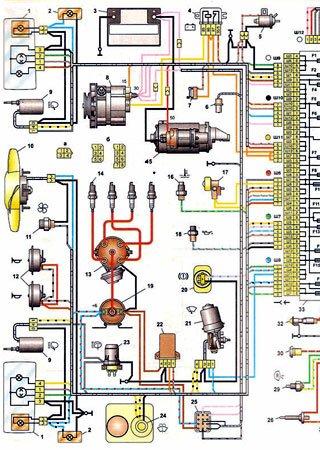 Schematy elektryczne VAZ-2104 «Żyguli» (ŁADA Estate, ŁADA Riva Break, ŁADA Nova Combi)