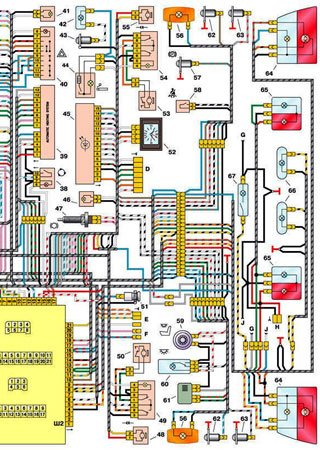 Electrical wiring diagrams for VAZ-21102 «LADA 110»