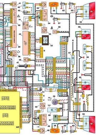 Schematy elektryczne VAZ-21102 «ŁADA 110»