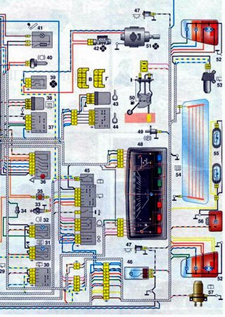 Electrical wiring diagrams for KamAZ-1111 «Oka»