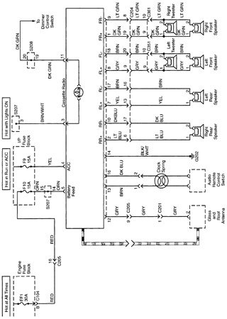 Electrical wiring diagrams for Daewoo Nubira