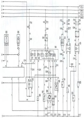 Electrical wiring diagrams for ZAZ Sens (Daewoo L-1300)