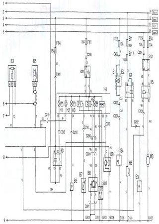 Schematy elektryczne ZAZ Sens (Daewoo L-1300)