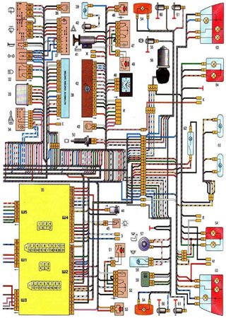 Electrical wiring diagrams for VAZ-2111 «LADA 111» (carburetor and injector)