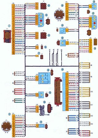 Electrical wiring diagrams for «LADA Kalina» (VAZ-1117, VAZ-1118, VAZ-1119)