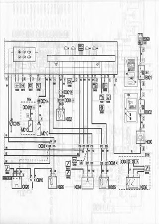 Electrical wiring diagrams for Peugeot Boxer I