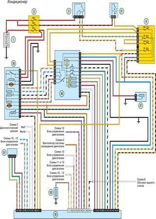 Electrical wiring diagrams for Renault Taxi Express