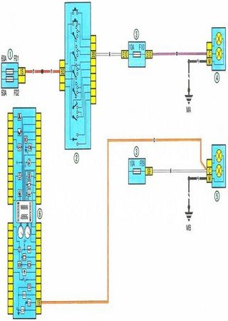 Electrical wiring diagrams for EMC E36