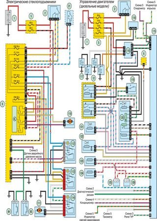 Electrical wiring diagrams for Nissan NP200