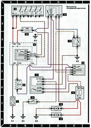 Electrical wiring diagrams for Audi A6 C4/4A (Audi A6 I)