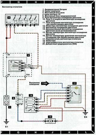 Electrical wiring diagrams for Audi 100 C4/4A