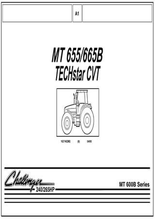 Spare parts catalogue for tractors Challenger МТ600B Series (МТ655, МТ665B)