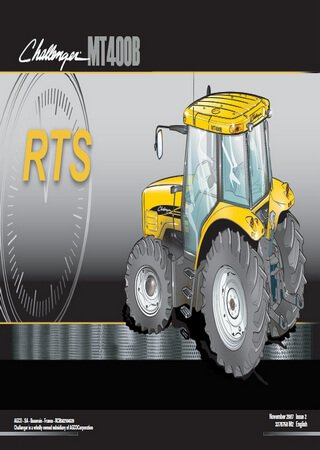 Spare parts catalogue for tractors Challenger МТ400B