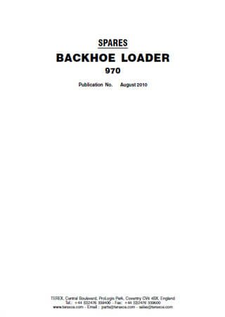 Spare parts catalogue for backhoe loader Terex 970