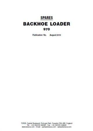 Katalog części do koparko-ładowarka Terex 970