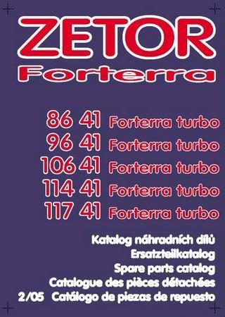 Каталог запчастей тракторов Zetor Forterra 8641, 9641, 10641, 11441, 11741 Turbo