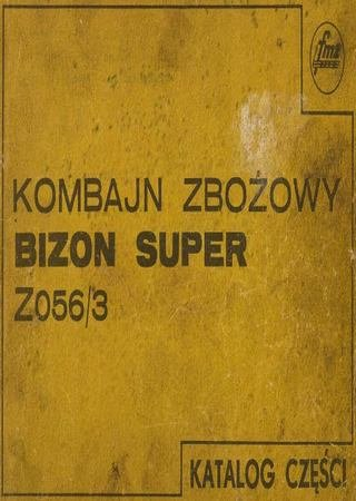 Каталог запчастей зерноуборочного комбайна Bizon Super Z056/3