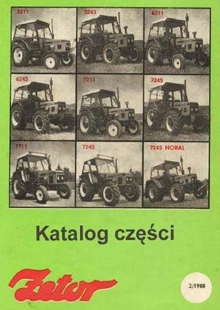 Каталог запчастей тракторов Zetor 5211, 5245, 6211, 6245, 7211, 7711, 7745, 7245 Horal