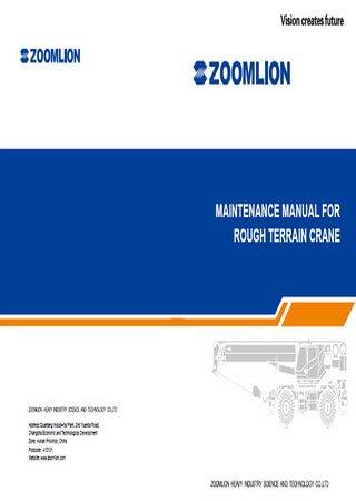 Руководство по техническому обслуживанию автокранов Zoomlion RT35, RT55, RT60, RT75, RT100