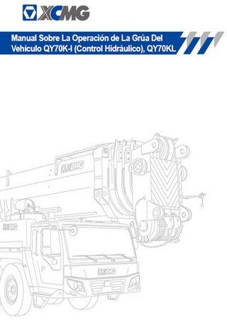 Руководство по эксплуатации автокранов XCMG QY70K-I, XCMG QY70KL