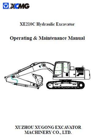 Руководство по эксплуатации и обслуживанию гидравлического экскаватора XCMG XE210C