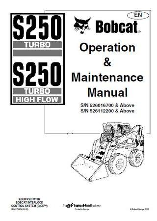 Мини-погрузчик Bobcat S250: Руководство по эксплуатации и обслуживанию