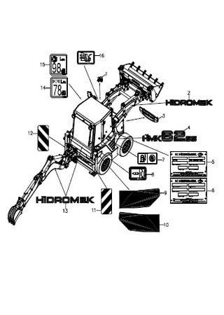 Каталог запчастей мини-экскаватора Hidromek HMK 62SS