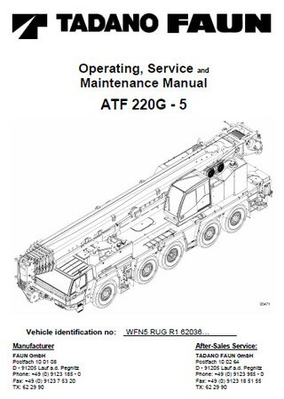 Руководство по эксплуатации и техобслуживанию автокрана Tadano ATF 220G-5