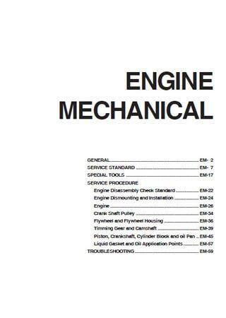 Руководство по обслуживанию двигателя Hyundai D6DA