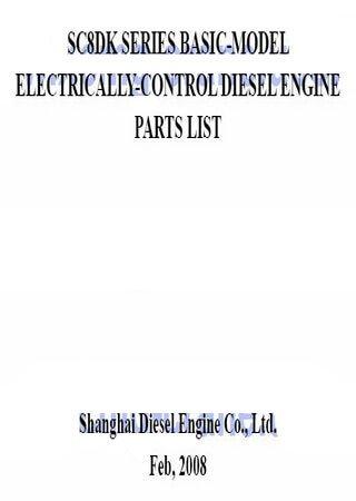 Каталог запчастей дизельных двигателей SDEC (Shanghai) SC8DK230Q3, SC8DK260Q3, SC8DK280Q3