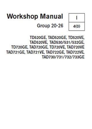 Руководство по ремонту двигателей Volvo Penta TD520GE-TAD733GE