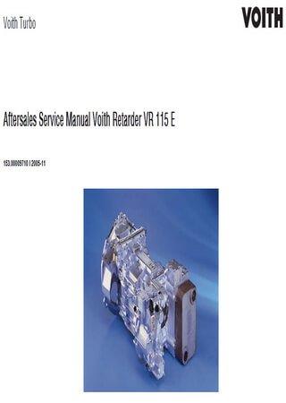 Руководство по обслуживанию ретардера Voith VR115E