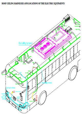Электросхемы автобуса Higer KLQ 6113