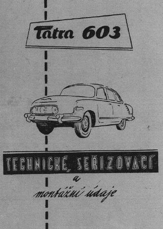 Техническое описание и инструкция по эксплуатации автомобиля Tatra 603