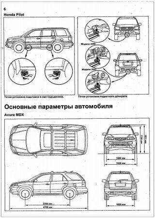 Instrukcja obsługi i naprawy samochodów Acura MDX, Honda Pilot i Honda Ridgeline