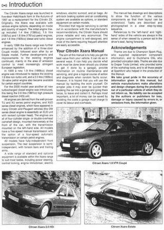 Service and repair manual for Citroen Xsara (1997-2000)
