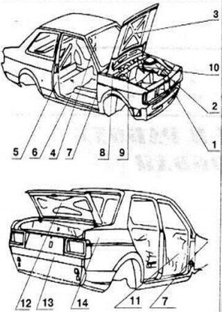 Service and repair manual for Audi 100/200 (1990-1994)